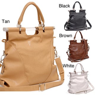 Dasein Tall Foldable Satchel Bag