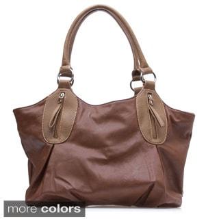 Dasein Slouchy Zip-pocket Shoulder Bag