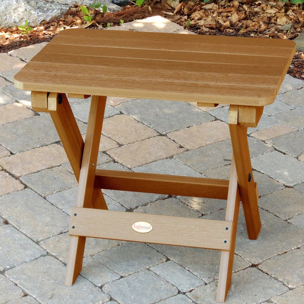 Highwood Eco Friendly Synthetic Wood Adirondack Folding Side Table   Free  Shipping Today   Overstock.com   14796517