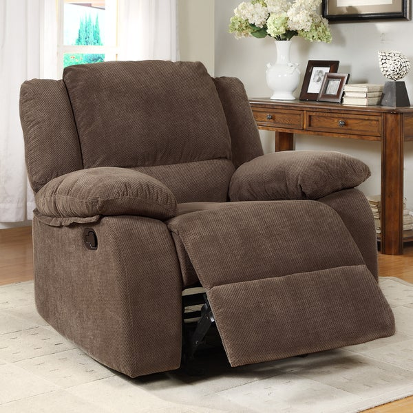Arista Dark Olive Rocking Recliner Chair