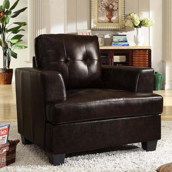 Cartona Brown Bonded Leather Chair