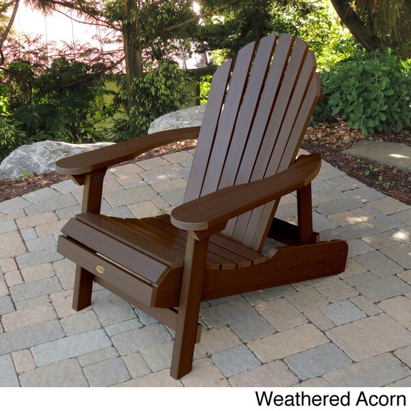 Superb Highwood Eco Friendly Synthetic Wood Folding And Reclining Adirondack Chair    Free Shipping Today   Overstock.com   14796520