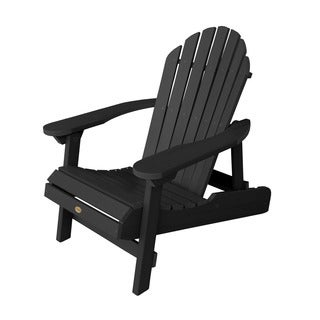 Highwood Eco-Friendly Synthetic Wood Embossed Folding and Reclining Adirondack Chair