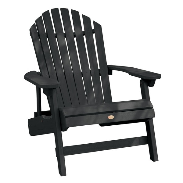 highwood ecofriendly synthetic wood kingsize folding and reclining adirondack chair