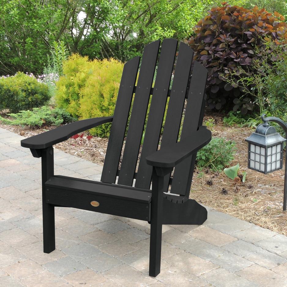 Picture 6 of 10 ... & Highwood Classic Westport Adirondack Chair Black | eBay