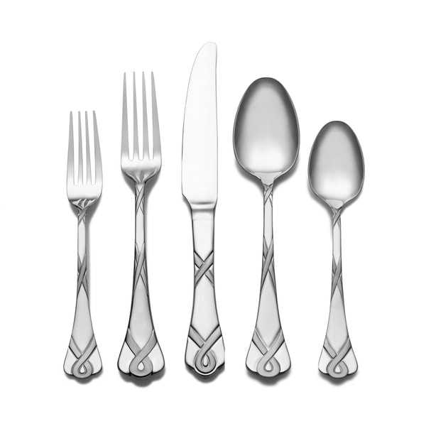 Maison Luxe 18/10 'Ribbon Frost' 45-piece Flatware Set