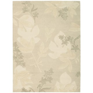 Nourison Hand-tufted Skyland Grey All Over Leaf Rug