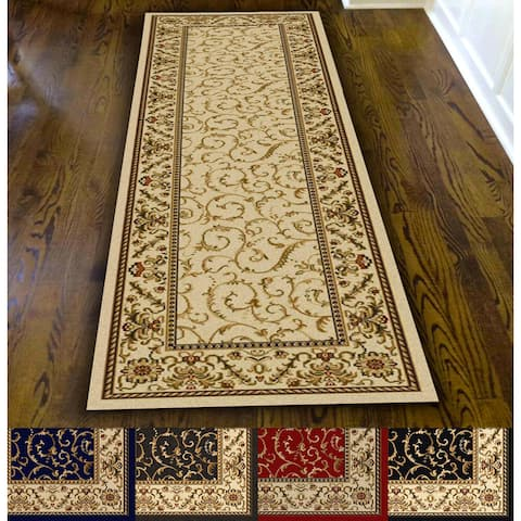 Admire Home Living Amalfi Scroll Area Rug Runner (2'2 x 7'7)