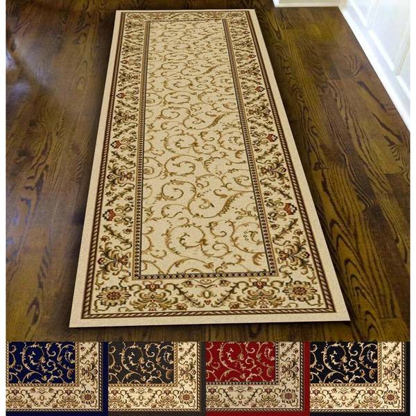 Admire Home Living Amalfi Scroll Area Rug Runner 2 X27