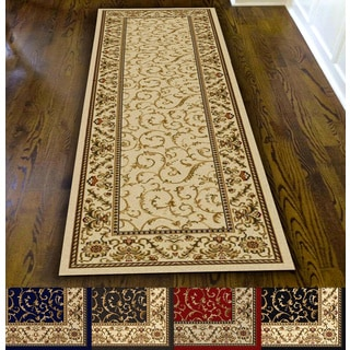 Admire Home Living Amalfi Scroll Area Rug Runner (2'2 x 7'7) - 2'2 x 7'7