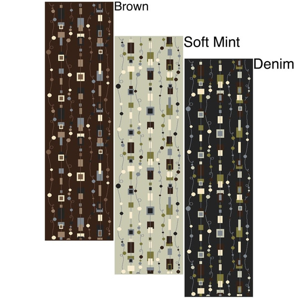 Admire Home Living Artisan Strings Area Rug Runner