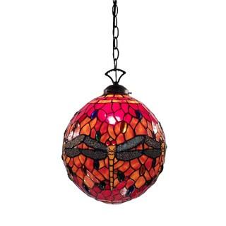 Warehouse of Tiffany Red Globe Dragonfly Lamp
