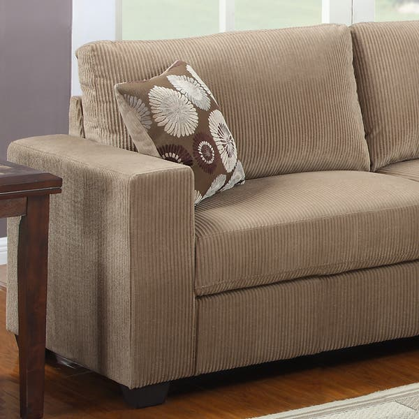 Shop Colette Brown Corduroy Sofa Set - Free Shipping Today ...