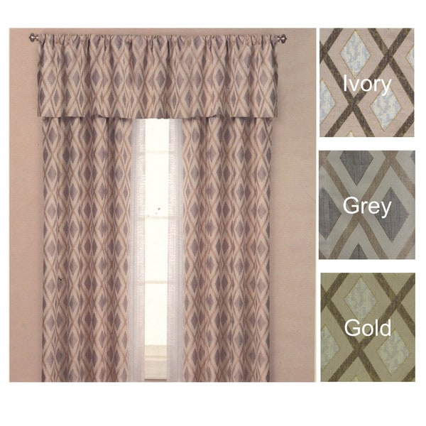 Brielle Home Yorkshire Lined Panel Curtain & Optional Valance