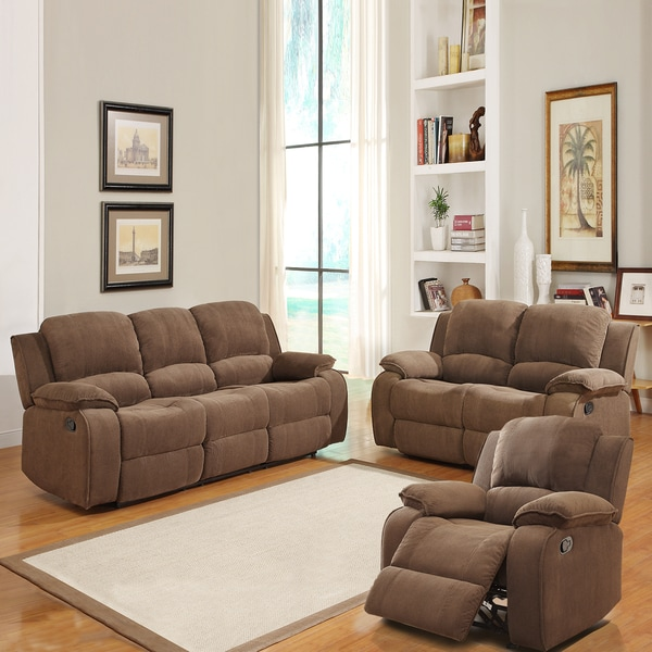 Marcelle Chocolate Polyester Sofa Set