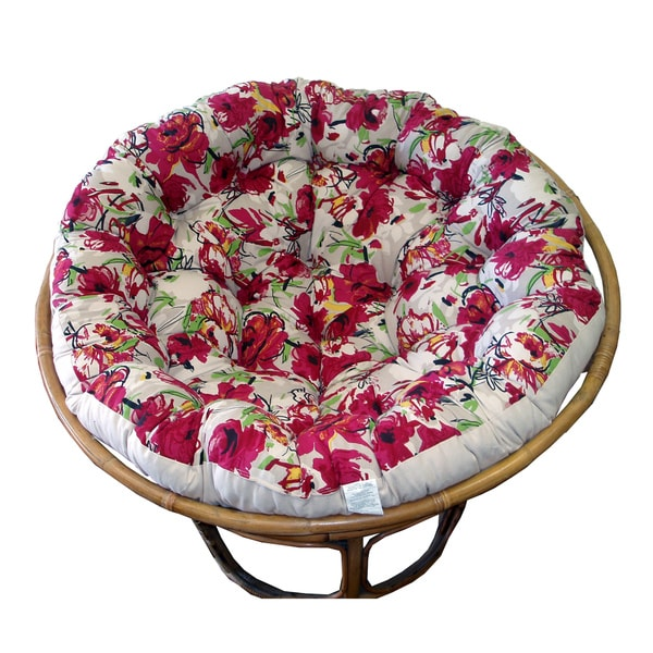 Celebration Papasan Roses Cushion