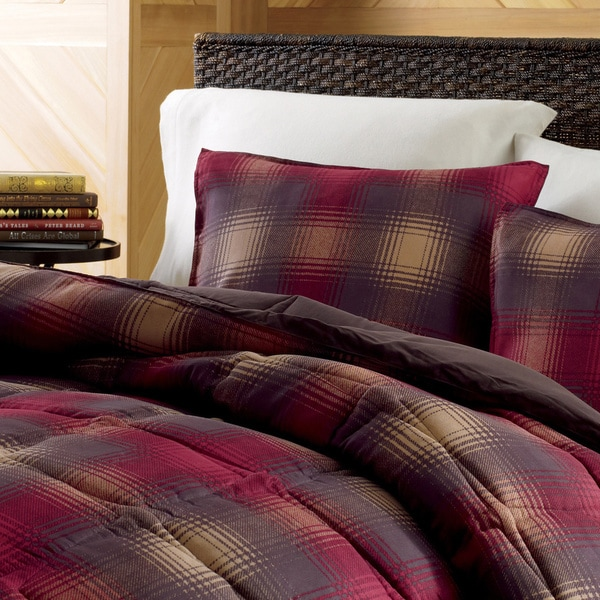 Eddie Bauer Nordic Plaid Red Down Alternative 3-piece Comforter Set