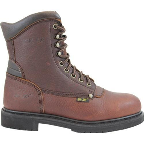 Men's AdTec 1050 Work Boots 10in Steel Toe Brown - Thumbnail 1