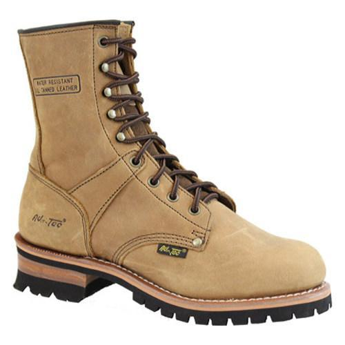 Men's AdTec 1427 Logger Boots 9in Brown - Thumbnail 0