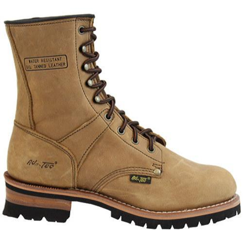 Men's AdTec 1427 Logger Boots 9in Brown - Thumbnail 1