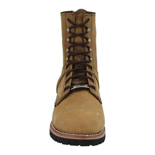 Men's AdTec 1740 Logger Boots 9in Steel Toe Brown - Thumbnail 2