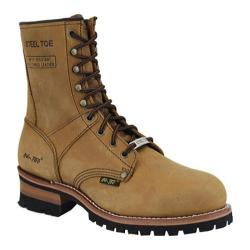 Men's AdTec 1740 Logger Boots 9in Steel Toe Brown