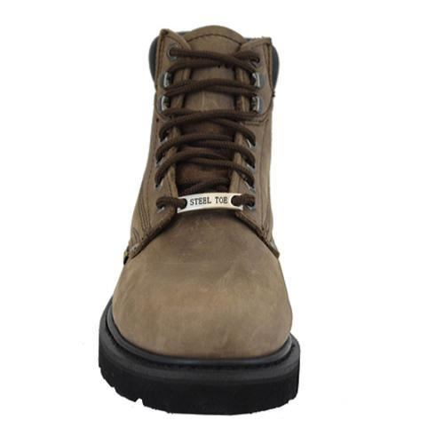 Men's AdTec 1981 Work Boots 6in Steel Toe Brown