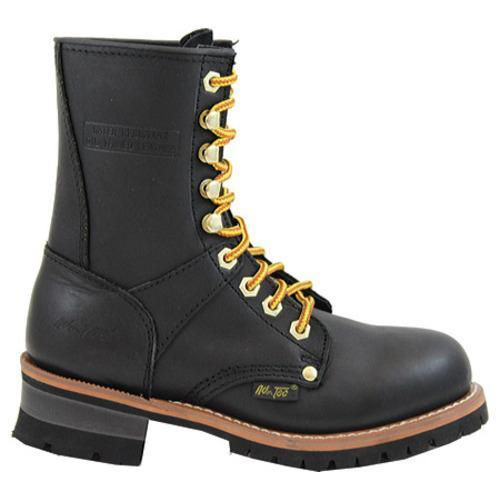 Women's AdTec 2439 Logger Boots 9in Black - Thumbnail 1