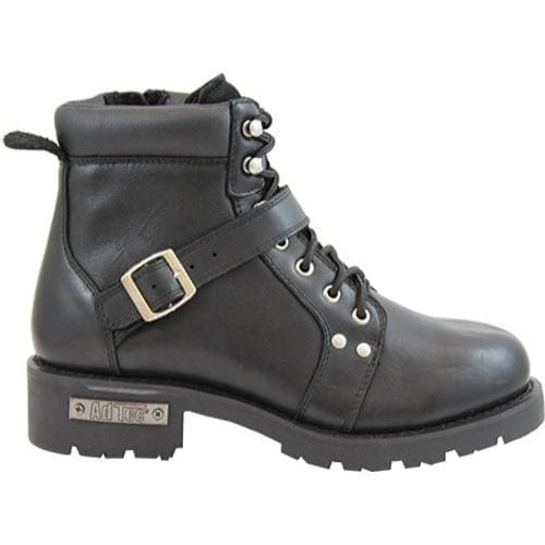Men's AdTec 9143 YKK Zipper Boot 6in Black - Thumbnail 1