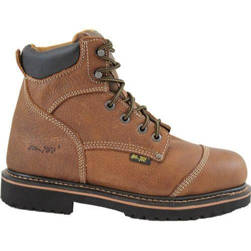 Men's AdTec 9186 Comfort Work Boots 6in Light Brown - Thumbnail 1