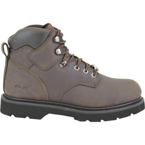 Men's AdTec 9328 Work Boots 6in Steel Toe Dark Brown - Thumbnail 1