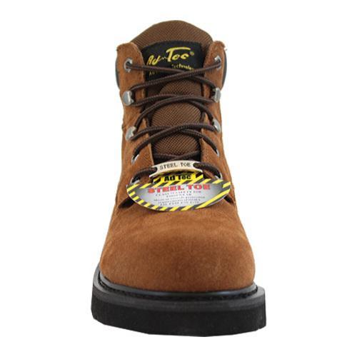 Men's AdTec 9331 Work Boots 6in Steel Toe Brown - Thumbnail 2