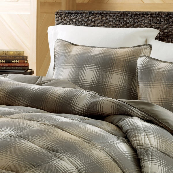 Eddie Bauer Nordic Plaid Dune Down Alternative 3-piece Comforter Set
