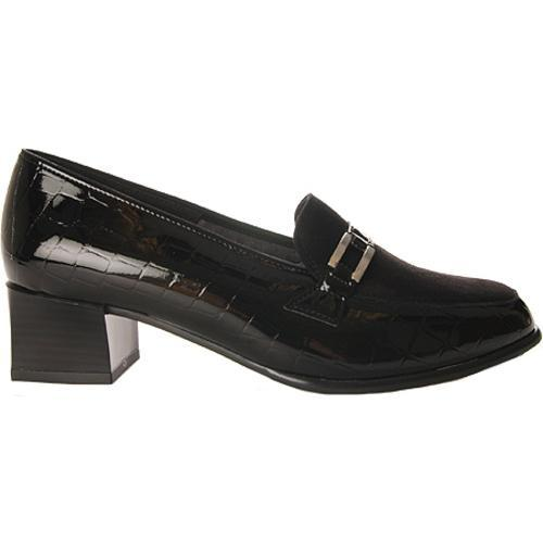 Women's Ara Lyon 42077 Black Faux Croco/Suede
