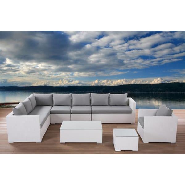 Beliani Wicker Sectional Outdoor Lounge Furniture Set XXL Free Shipping Tod