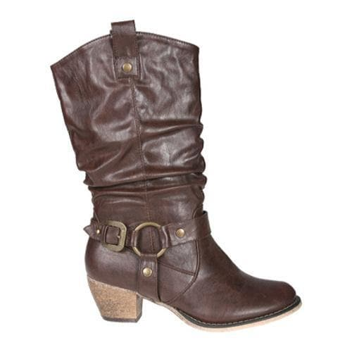 Women's Beston Wild-02 Brown PU - Thumbnail 1