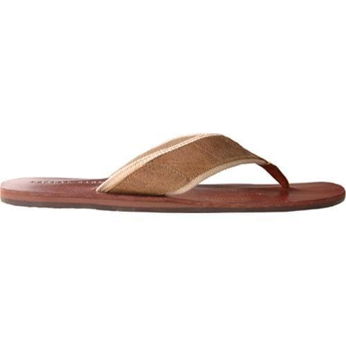 Men's Casual Barn CBS0032 Brown Leather Canvas