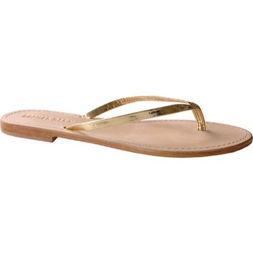 Women's Casual Barn CBS0042 Metallic Gold Leather