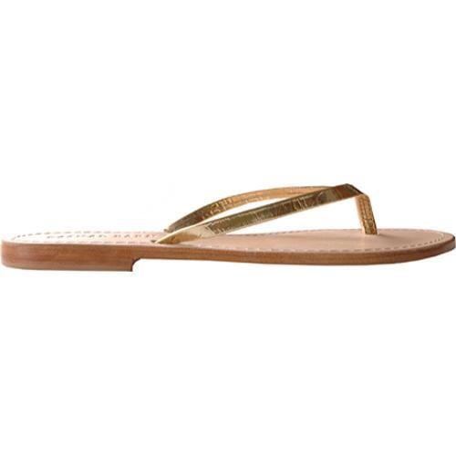 Women's Casual Barn CBS0042 Metallic Gold Leather - Thumbnail 1