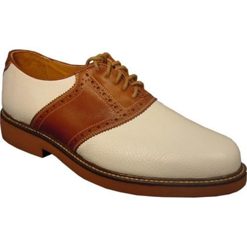 Men's David Spencer Saddle White Floater/Tan Burnished - Thumbnail 0
