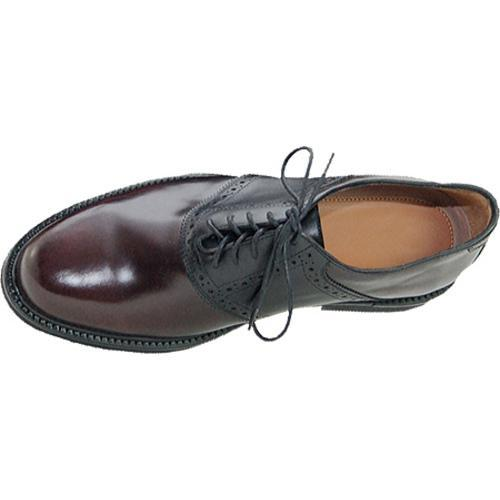 Men's David Spencer Sport Saddle Black/Burgundy Leather - Thumbnail 2