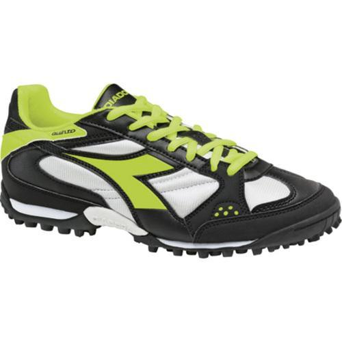 Men's Diadora Quinto TF Black/Yellow Fluorescent