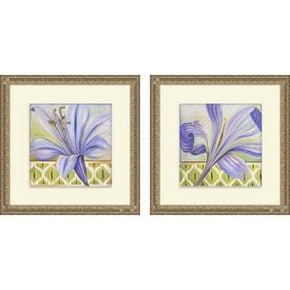 Patricia Pinto 'African Lily I & II' Framed Print