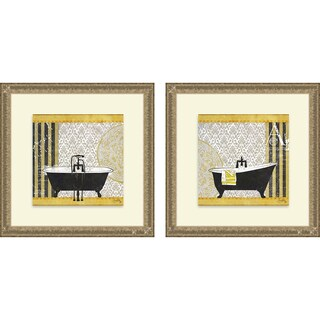 Elizabeth Medley 'Goldenrod Bath I & II' Framed Print