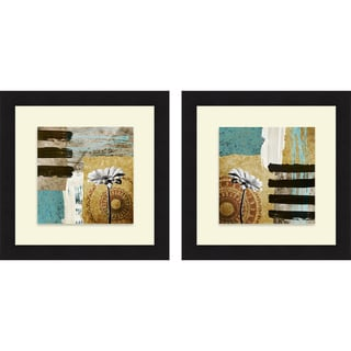 Michael Marcon 'Achromatic Flower I & II' Framed Print