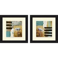 Michael Marcon 'Achromatic Flower I & II' Framed Print