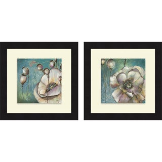 Patricia Pinto 'Blue Poppies I & II' Framed Print