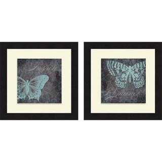 Elizabeth Medley 'Inspiration I & II' Framed Print