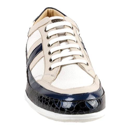 Men's GooDoo Classic 001 White/Navy/Ivory Calf - Thumbnail 1
