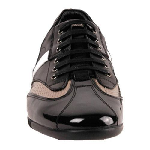 Men's GooDoo Classic 006 Black/White Calf/Black/Gold Patent Leather - Thumbnail 1